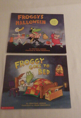 Halloween 2 Froggy (Lot of 2 Books Froggy's Halloween and Froggy Goes To Bed Childs)