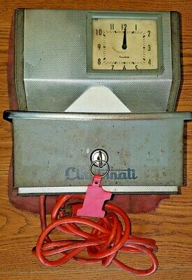 Vintage Cincinnati Punch Clock Time Clock Model 4011je