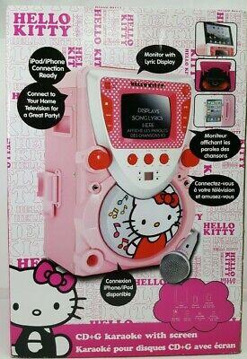 Hello Kitty CD+G Karaoke System with Screen Hello Kitty Karaoke