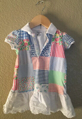Polo Ralph Lauren Baby Girl Floral Patchwork 9month Dress