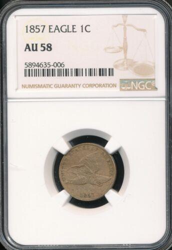 1857 Flying Eagle Cent NGC AU 58 *Sharp!*