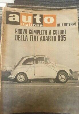 Auto Italiana No 13 01/04/1965 Versuchen Sie auf Straße der Fiat Abarth 695
