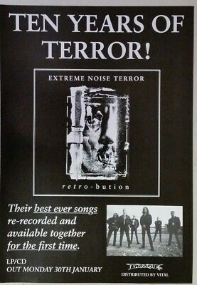"EXTREME NOISE TERROR ""Retro-bution"" Full Page AD magazine clipping grind d-beat"