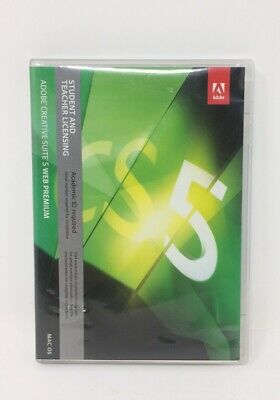 Adobe creative suite 5 web premium MAC OS student & teacher licensing 3 disc