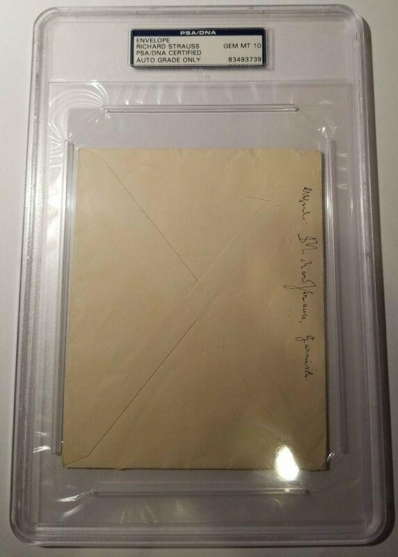 Richard Strauss Signed Envelope PSA DNA 10  Autograph Auto Classical Composer