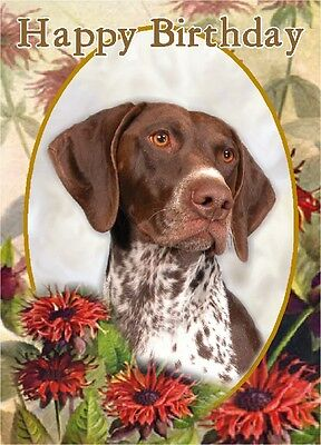 German Shorthaird Pointer Dog A6 Textured Birthday Card BDGRMNSHPOINT paws2print
