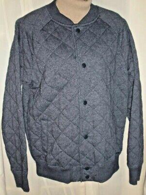 ON THE BYAS Navy blue Women's Fleece Baseball-style Jacket Sweater Sweatshirt M