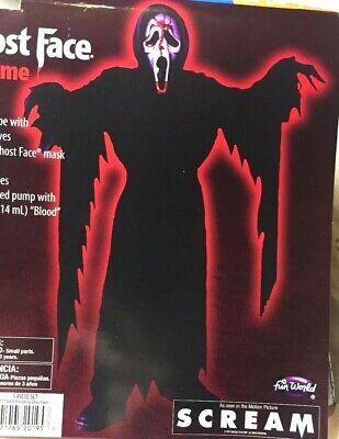 Scream Halloween Costumes Kids (Scream Bleeding Ghost Face Child Boy Medium Large Costume Halloween Dress)