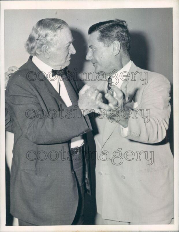 1944 US Senators Tom Connally TX & Burnet Maybank SC Face Off Press Photo