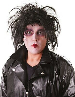 Adult Mens Crazy Cutter Halloween Black Fancy Dress Costume Outfit Wig](Crazy Halloween Outfits)
