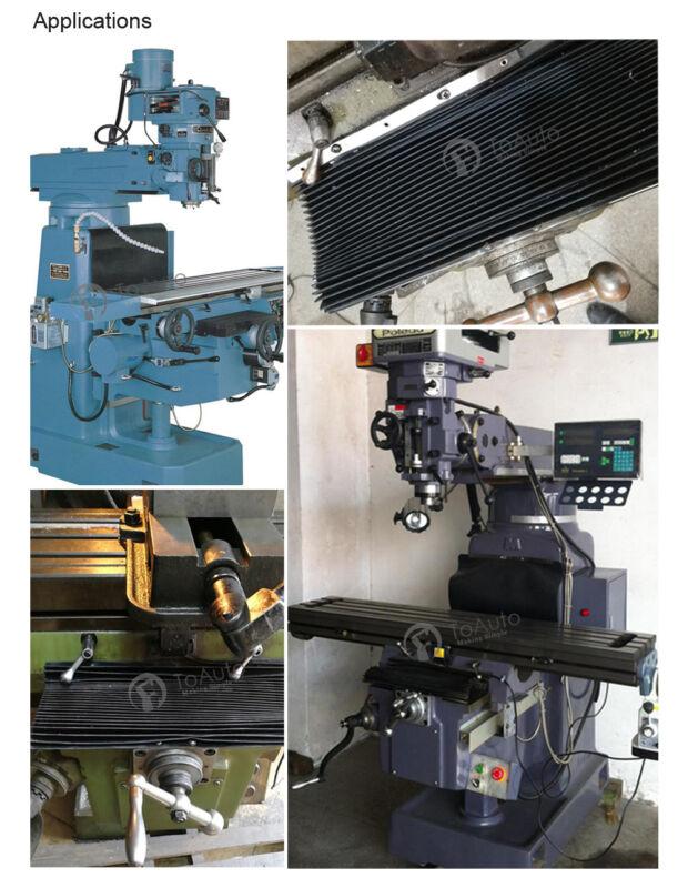 Bridgeport Milling Machine Accordion Front Way Cover Vertical Mill Proector Pad