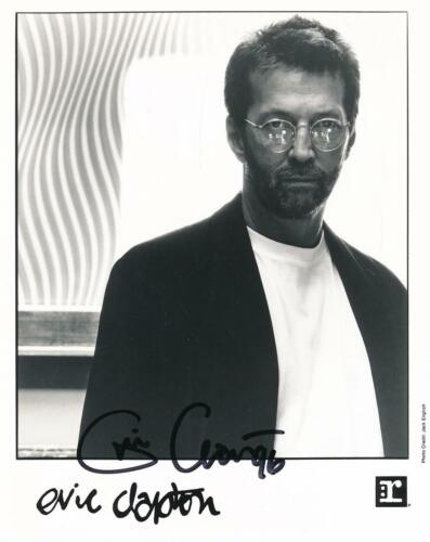 Eric Clapton- Signed Record Label Photograph in 1996