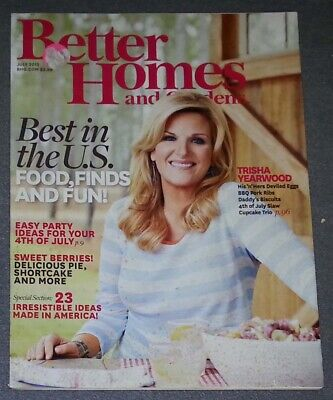 Better Homes and Gardens Magazine - July 2013 Best in the U.S. Food, Finds, (Best Homes In The Usa)