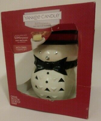 Yankee Candle Scenterpiece Easy Meltcup Warmer w/ Timer, Lights Up, Snowman