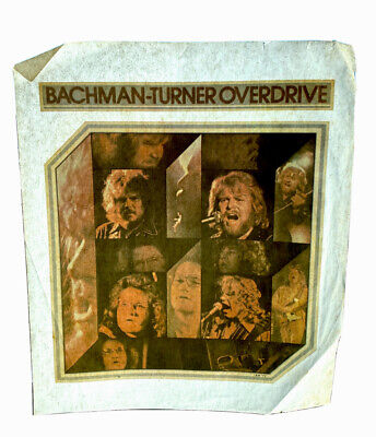 Vtg Deadstock T Shirt Iron On Heat Transfer Bachman Turner Overdrive Lot Of Two