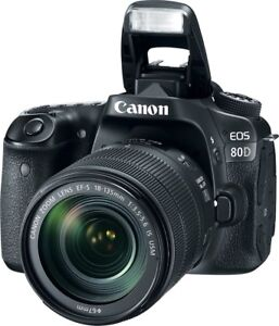 Canon 80D with 3 lenses Bag Tri-pod and extra Batteries