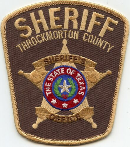 THROCKMORTON COUNTY TEXAS TX SHERIFF POLICE PATCH