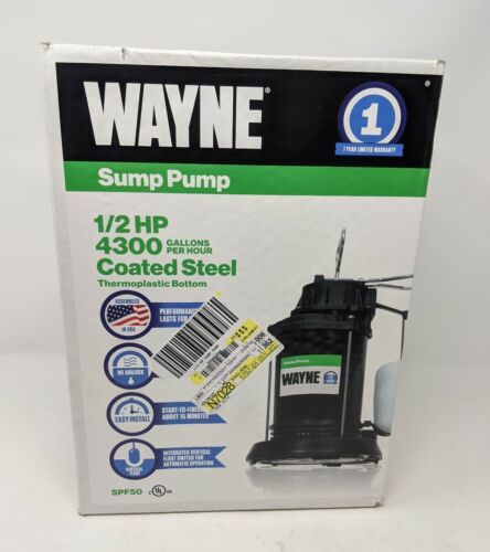 1/2 HP Vertical Float Switch Thermoplastic Sump Pump with Ep
