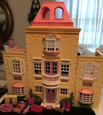 Fisher Price Loving Family Twin Time Grand Doll House Mansion 2005 + Accessories