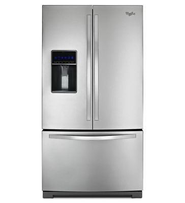 Whirlpool 25 cu. ft. French Door Refrigerator-MicroEdge Shelves-Stainless Steel