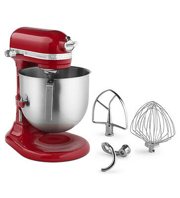 KitchenAid KSM8990ER Commercial NSF 8-Qt Bowl Lift Stand Mixer, Red