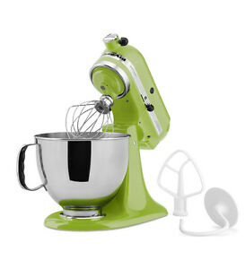 KitchenAid KSM150PSGA Artisan 5 Quart Stand Mixer, Green Apple