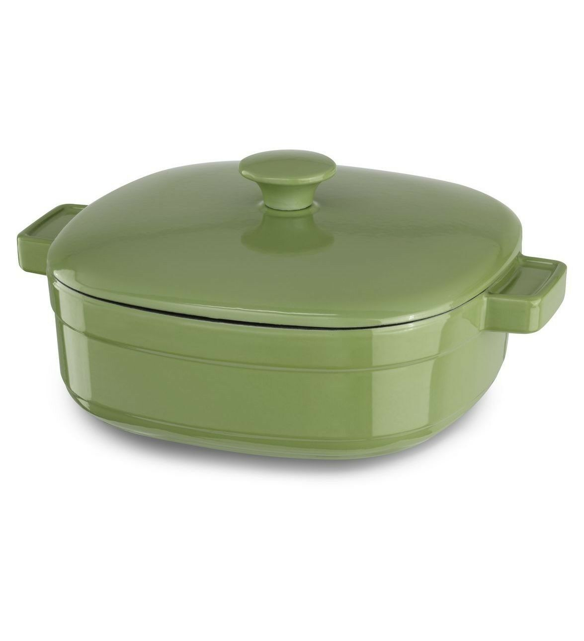 Kitchenaid Cast Iron Streamline Cookware KCLI40CRKI Kiwi Green 4-Quart Casserole at Sears.com