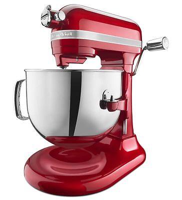 KitchenAid KSM7586P Pro Line 7-Qt Lift Stand Mixer Candy Apple Red KSM7586PCA