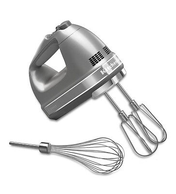 KitchenAid hand mixer 7 Speed khm7210cu Free Whisk Included Contour Silver