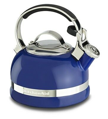 KitchenAid 2-Qt Steel Handle Band Tea Kettle Whistle KTEN20SBDB Doulton Blue