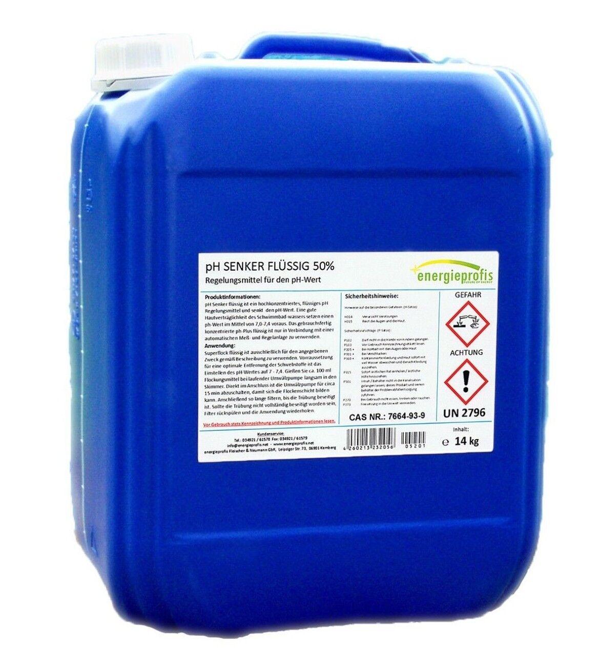 pH Senker flüssig ph-Wert Minus Regulierung