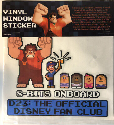Disney Vintage Vinyl Window Sticker 8-Bits Onboard D23 : Official Fan Club