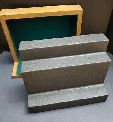 Rahn Usa 9x12 Precision Granite Step Angle Plate Machinist Right Inspection