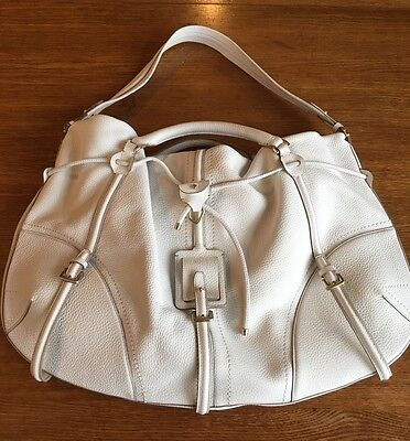 Boss Hugo Boss Women's Purse White Leather Large Handbag