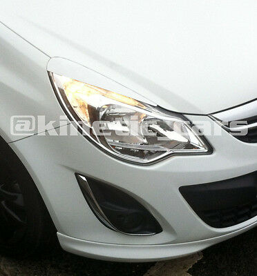 Vauxhall corsa D facelift eyebrows eyelids spoilers Abs