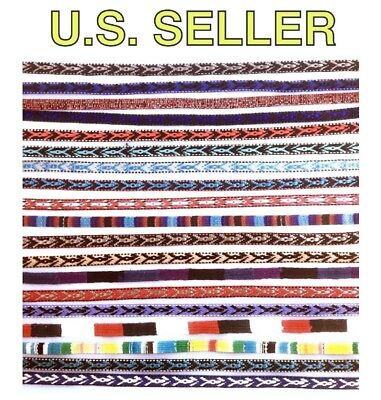 🌟Western Cowboy Hat Band, Woven Native Indian Patterns, Fully Adjustable -