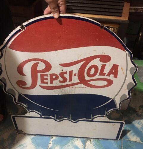 rare Vintage Antique Pepsi porcelain sign advertising