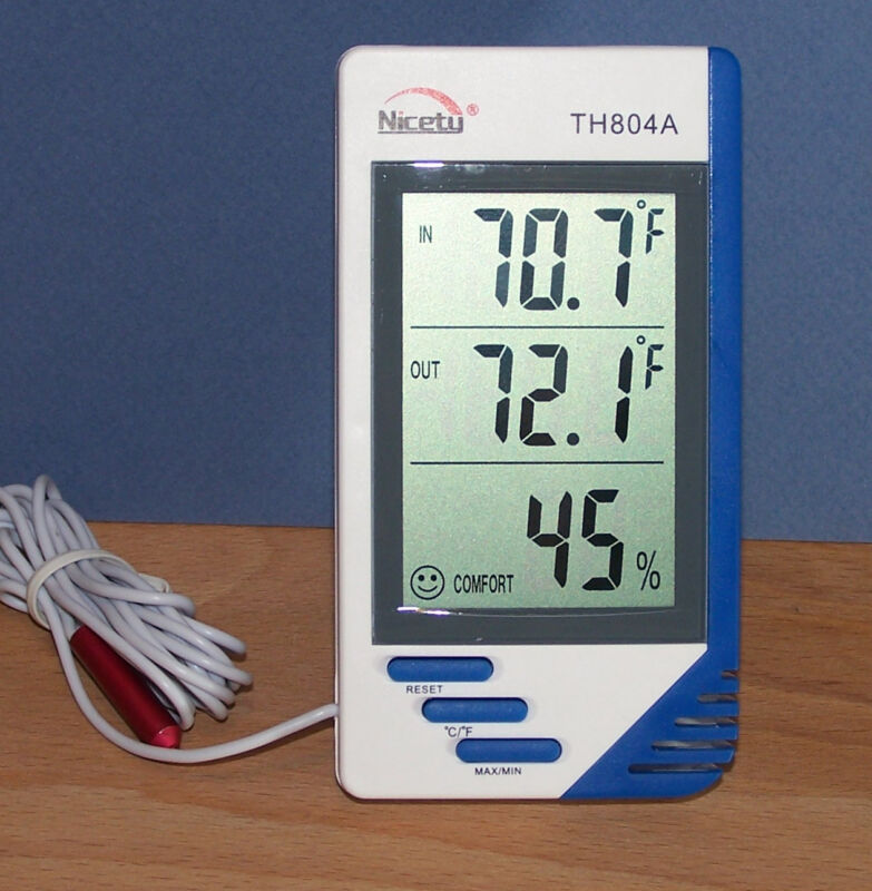 Digital Indoor Outdoor In/Out Thermometer Hygrometer Humidity Meter Moisture 4A