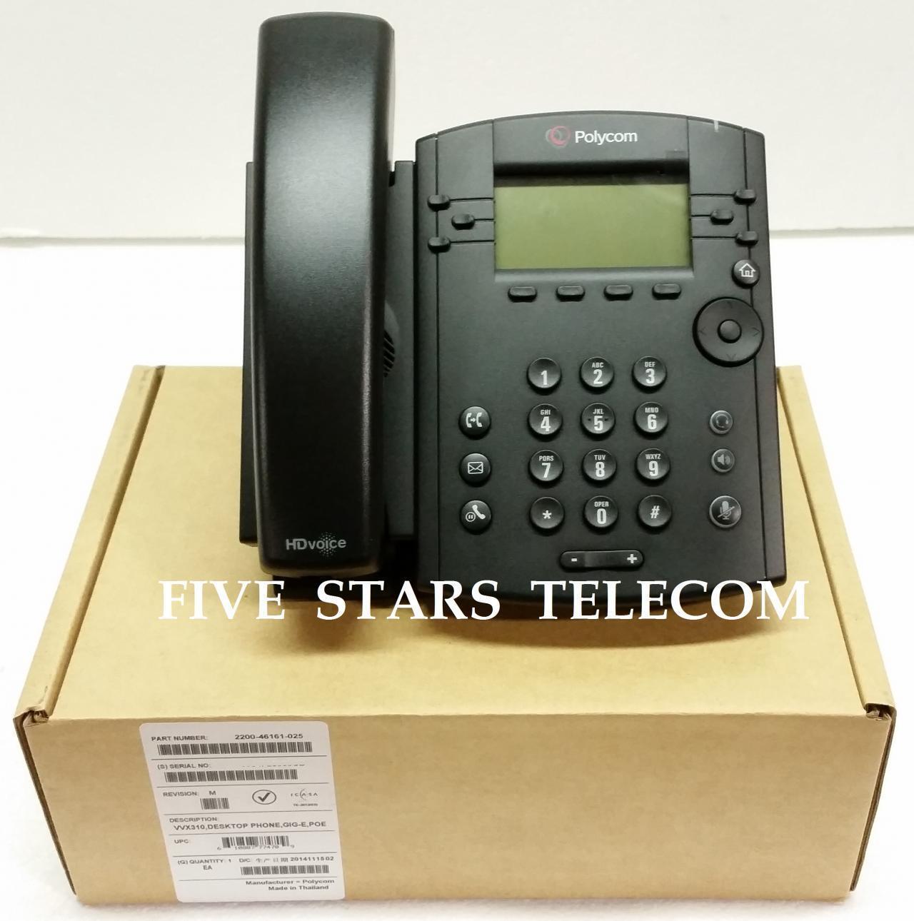 Polycom Vvx 310 Voip Ip Sip Gigabit Business Media Phone ...
