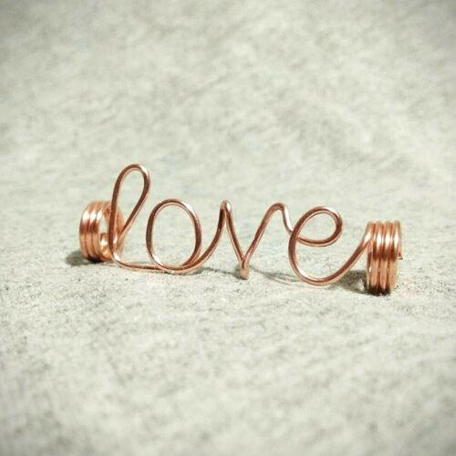 Love dreadlock accessory hippy dread bead braid bead faux loc jewelry loc bead