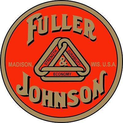 2 Official Fuller Johnson Water Slide Off Decals