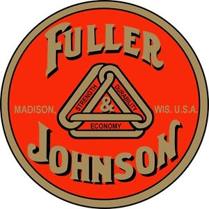 2 Official Fuller & Johnson Water Slide Off Decals (price includes shipping)