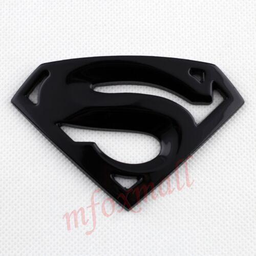 Car Parts Black Style 3D Superman Supergirl Emblem Logo Badge Decal Sticker Trim