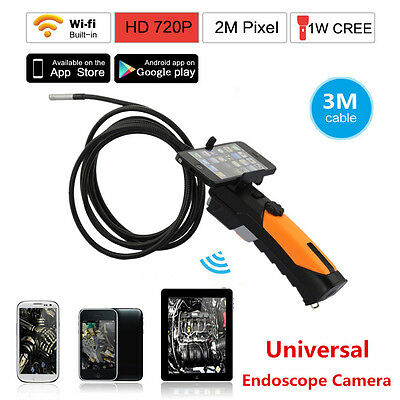 Buy and sell HD 8.5mm WIFI Endoscope Inspection Snake Camera Borescope For Android IOS iPhone products