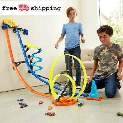 Hot Wheels 4FT Car Track Builder Vertical Launch Kit W/ 3-Configurations for 6+