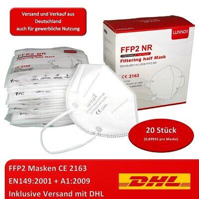 LUYAO FFP2 (20St) Atemschutzmaske Mundschutz Filtering Maske Mund Nasen CE 2163