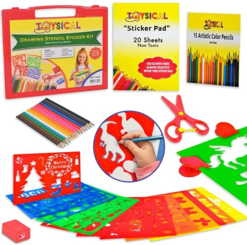 Drawing Stencils Set for Kids Sticker Sheets Gifts for Girls Ages 2 -7 Year Old