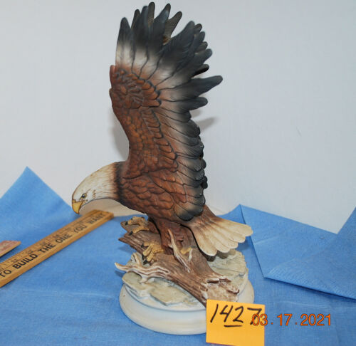Collectible Vintage American Eagle Masterpiece Porcelain Homco Figurine