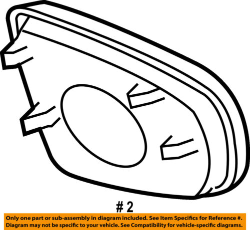 BMW OEM 07-13 X5 Door Side Rear View Mirror-Frame Right 51167180738