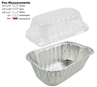 1 Lb. Aluminum Foil Mini-loaf Pan Wclear Dome Lid 25pk - Disposable Containers